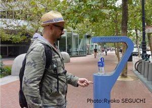 サンフランシスコの街中の給水ステーション
